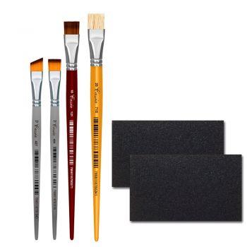 Kit de Pincéis Cássia para Pintura em MDF